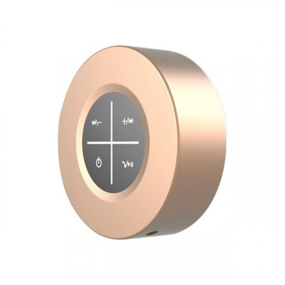 Portable Bluetooth Speaker Wireless Subwoofer Hands Free Calling Loudspeaker Speaker with Microphone Gold