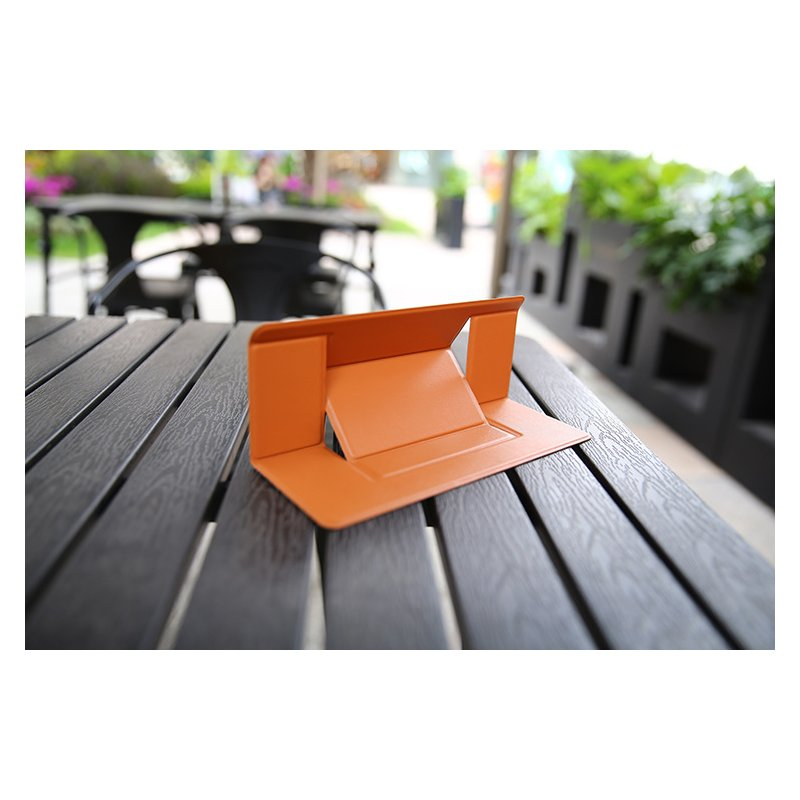 Portable Bracket for Macbook Invisible Laptop Stand Holder Ultra-Thin Seamlessly Detachable Adjustable Notebook Riser brown