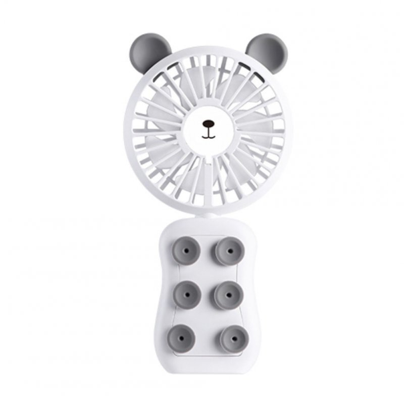 Portable USB Rechargeable Fan White Bear