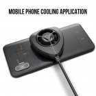 Portable Cooling Fan Gamepad Game Handle Radiator Mobile Phone Cooler Mini Cooling Fans black