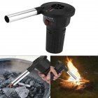 Portable Electric Air Blower for Picnic Cooking Barbecue Camping Fire Blower Tools No Battery black