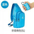 Portable Foldable Chest Bag Outdoor Sports Cycling Foldable Chest Bag Casual Shoulder Sling Bag blue