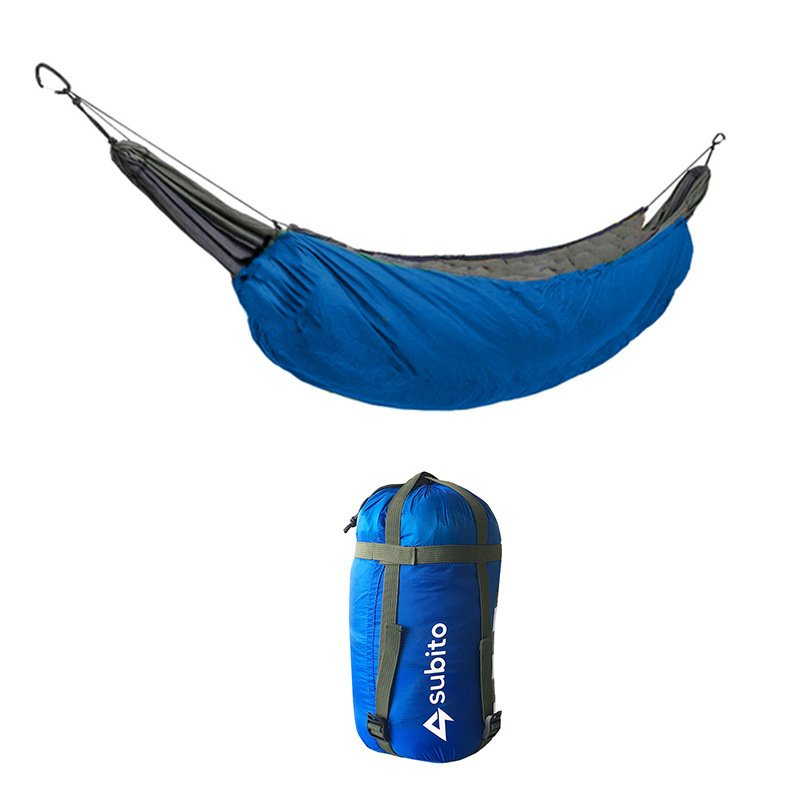Portable Hammock Sleeping Bag Outdoor Casual Thermal Hammock Accessory for Camping 230*110 (sky blue)