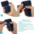 Portable Handheld 125KHz RFID ID Card Writer Copier Duplicator with 6 Tags Cards Blue  Not Including Battery  blue