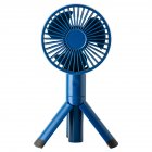 Portable Handheld Fan 3 Modes Adjustable Rechargeable Fan for Outdoor Home blue_106x228x40mm