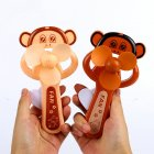 Portable Handhold Mini Fan with Cartoon Shape for Student 38A big mouth monkey One size