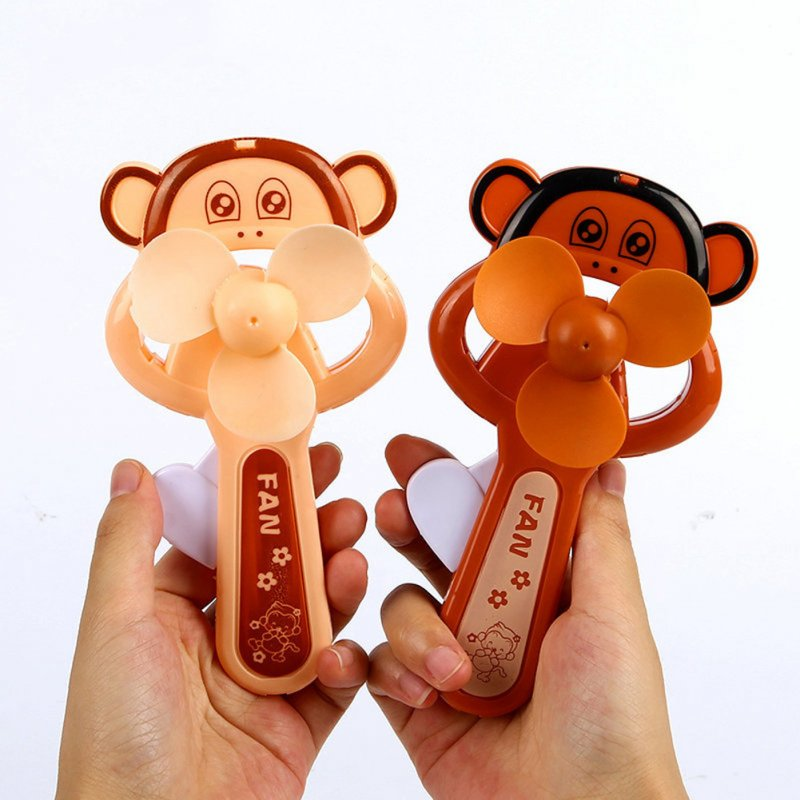 Portable Handhold Mini Fan with Cartoon Shape for Student 38A big mouth monkey_One size