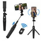 Portable K20 Tripod Handheld Self-timer Bluetooth Android / iOS Mobile Phone Universal Live Selfie Stick for Travel K20