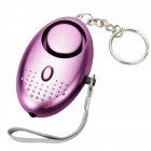 Portable LED Personal Safety Alarm Keychain Security Panic Rape Attack Torch 67*45*25mm purple