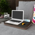 Portable Laptop Desk Tray Outdoor Learning Desk Laptop Stand Holder for Bed Sofa Office Home black