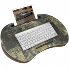 Portable Laptop Desk Tray Outdoor Learning Desk Lazy Tables Laptop Stand Holder for Bed Sofa Dark green