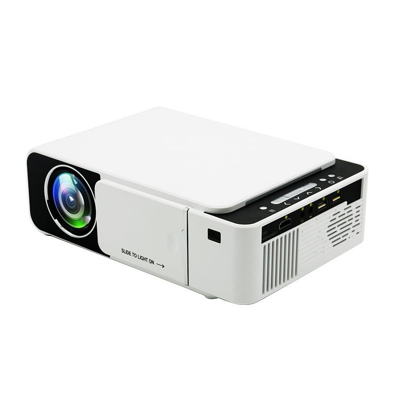Portable MINI T5 LED Projector 800*480 Smart WIFI Smart Video Projectors for Iphone Home Theater British regulatory
