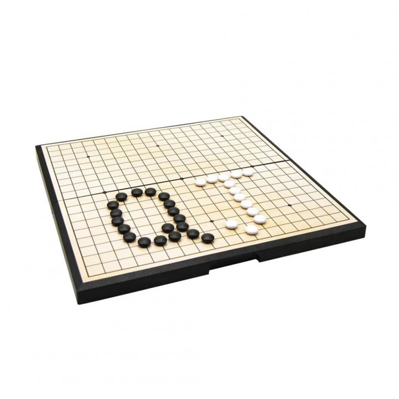 Portable Magnetic Go Game Set With Single Convex Magnetic Plastic Stones Set Go Board for Party Travel  Go Game Set