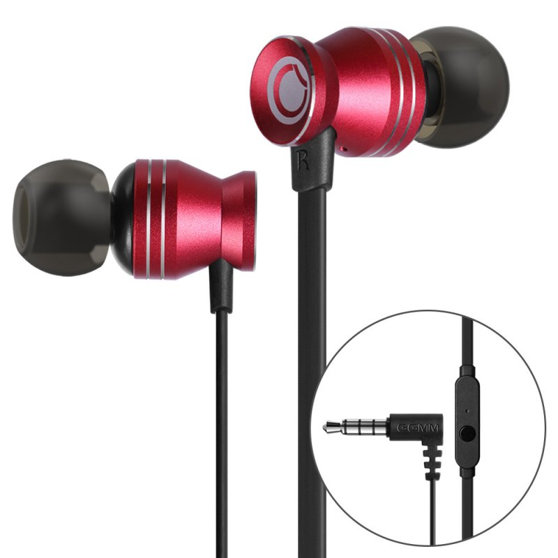 GGMM Noise Cancellation Red Earphone