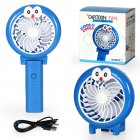 Portable Mini Fan Pocket Foldable Handheld USB Rechargeable Fans Home Office Travel Outdoor blue_9.5 * 3.5 * 18cm