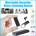 Portable Mini Professional High-definition Noise Reduction Voice  Recorder 4GB