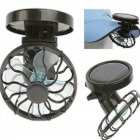 Portable Mini Solar Powered Fan with Clip Summer Must-have Fan for Hat 8cm