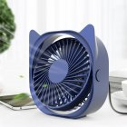 Portable Mini Tabletop Usb Charging Fan for Student Dormitory Dark blue