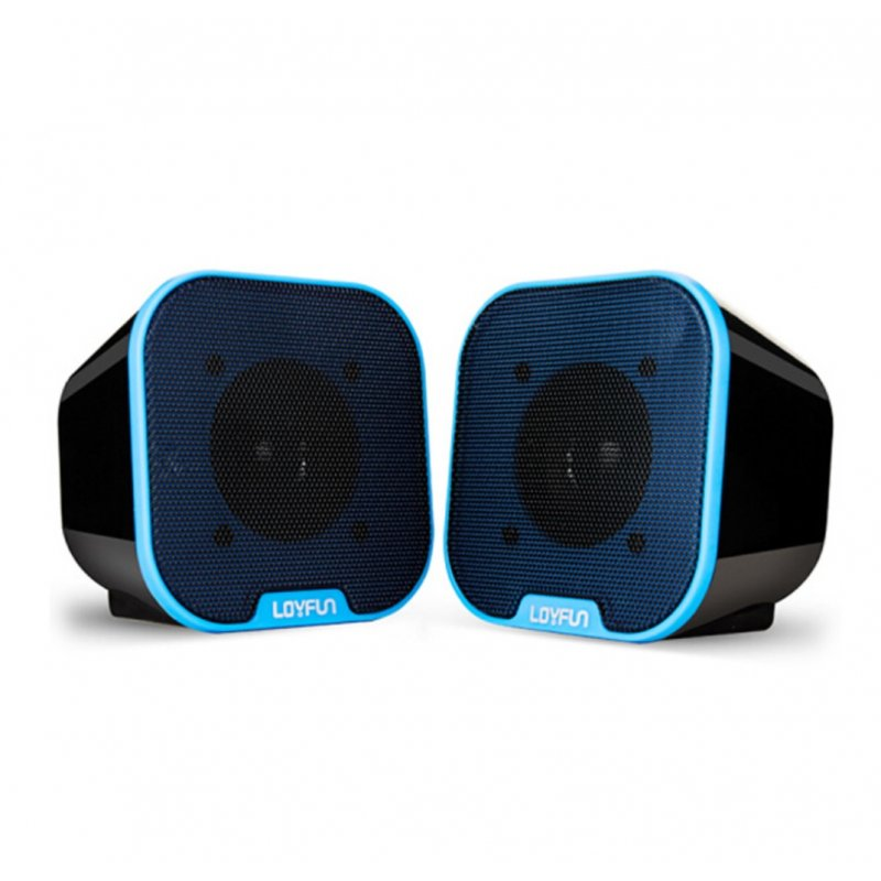 Portable Mini USB 2.0 Stereo Music Speakers for Desktop Computers Laptops Notebooks Home Theaters Blue
