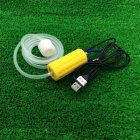 Portable Mini USB Aquarium Fish Tank Oxygen Air Pump Mute Energy Saving Supplies Accessories yellow