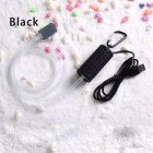 Portable Mini USB Aquarium Fish Tank Oxygen Air Pump Mute Energy Saving Supplies Accessories black