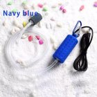 Portable Mini USB Aquarium Fish Tank Oxygen Air Pump Mute Energy Saving Supplies Accessories dark blue