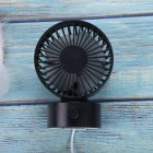 Portable Mini USB Charging Fan Desktop Office Shaking Electric Fan Decoration black_102*79*138mm
