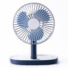 Portable Mini USB Charging Fan Desktop Standing Adjustable Electric Fan dark blue