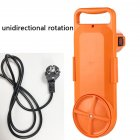 Portable Mini Washing Machine Bucket Clothes Washer for Travel second generation orange (all English)