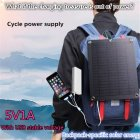 Portable Mobile Power Solar Charger 5V Outdoor Emergency Backpack Solar Charging Plate Dark gray