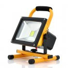 Portable Outdoor Flood Light and Camping Light with 30W  2550lm  Rotates 360 Degrees  IP65 Waterproof  Built in Battery
