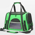 Portable Pet Bag Outgoing Travel Breathable Pets Cage Handbag with Top Window Mesh green