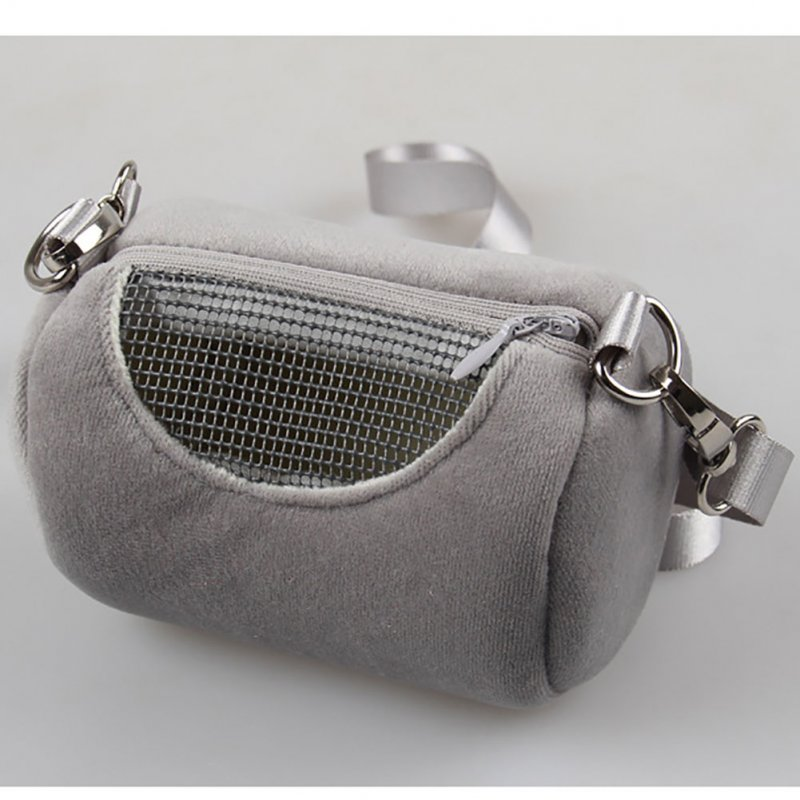 Portable Pet Hamster Cylinder Bag Carrier Comfortable Travel Bags Should Bag for Flying Squirrel Small Animals  gray