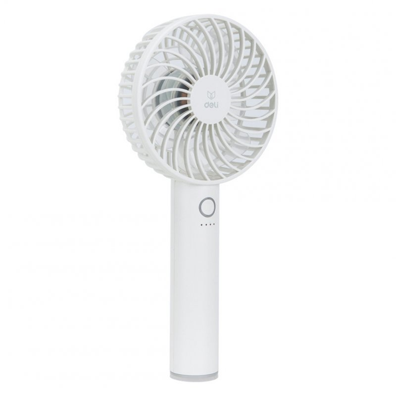 Portable Rechargeable Mini Fan Usb Handheld Large Capacity Battery Powered Fan white