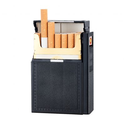 Portable Cigarette Case USB Charging Lighter