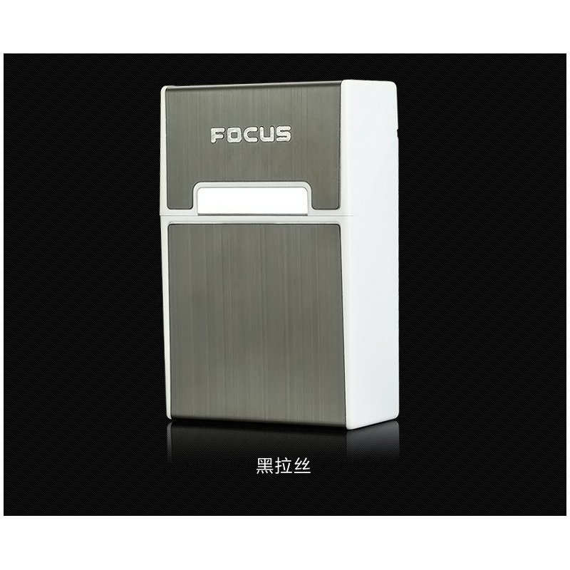 Portable Slim Metal Cigarette Case for 20 Cigarettes Storage Smoking Accessories Christmas Gift black_YH023