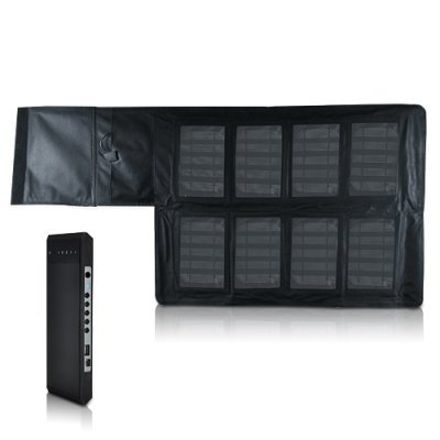 Portable Solar Charger w/ 12000mAh Battery