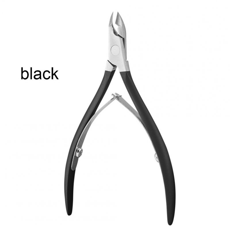 Portable Stainless Steel Nail Art Cuticle Nipper Cutter Clipper Manicure Pedicure Tools Nail Scissors black