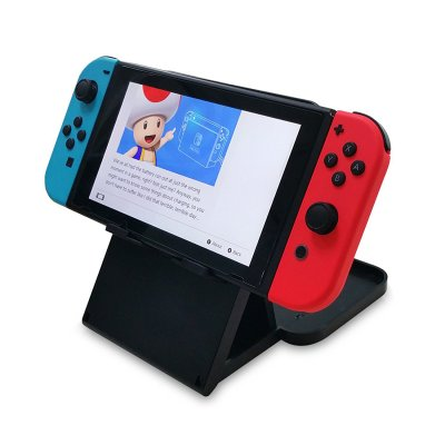 Portable Stand Holder Dock Base Back Bracket Desktop Mount for Nintend Switch Host  black