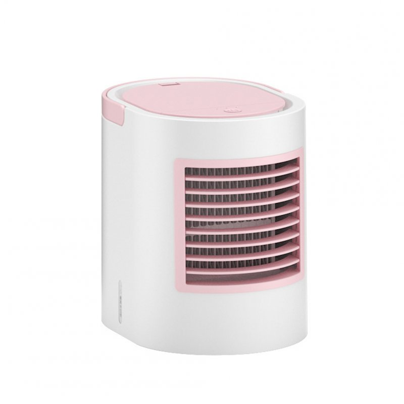 Portable Table Cooler USB Mini Handheld Air Conditioner Cooling Fan for Office Home Pink_178 * 133 * 170mm