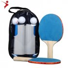 Portable Table Tennis Set Ping Pong Racket Ball Retractable Net Rack Sports Equipment English Manual Gray Blue