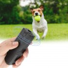 Portable Ultrasonic Pet Dog Repeller Anti Barking Control Training Device black