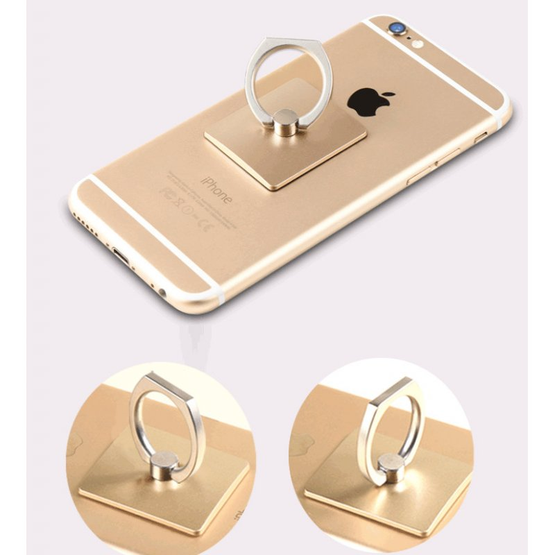 Portable Finger Ring Phone Holder - Gold