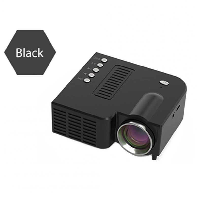 Portable Video Projector Home Theater Cinema Office Supplie LCD Mini Projector Media Player For Smart Phones black
