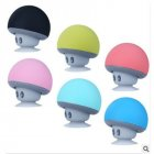 Portable Wireless Bluetooth Mini Cute Mushroom Shaped Audio Speaker Phone Bracket Light blue
