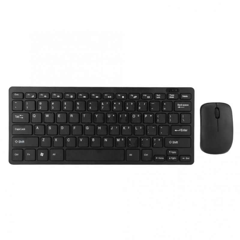 Portable Wireless Keyboard + Mouse Set for Game Playing 2.4G black