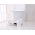 Potty Help Prevent Constipation Bathroom Toilet Aid Squatty Step Foot Stool for Elderly Children Pregnant Women White 40x26 5x17cm white