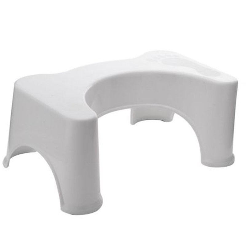 Potty Help Prevent Constipation Bathroom Toilet Aid Squatty Step Foot Stool for Elderly Children Pregnant Women White_40x26.5x17cm;white