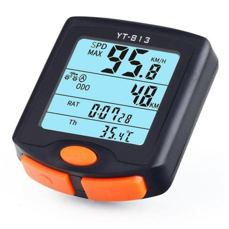 Practical Wireless Bike Cycling Bicycle Computer Backlight Odometer Speedometer Wireless 813