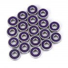 Precision 608 RS ABEC 9 Professional Ball Bearings Scooters Electric Drills High-speed High-Strength Replacement Bearings Purple cover ABEC-9